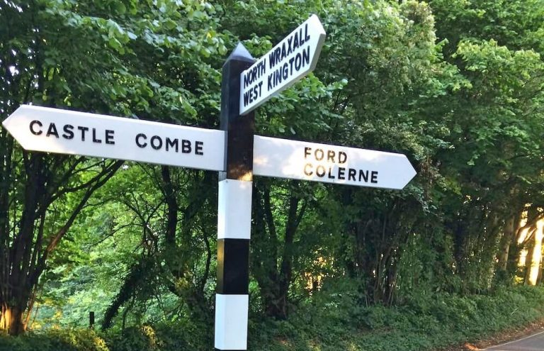 Castle Combe signpost