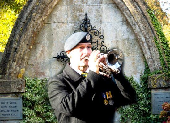Remembrance bugle player