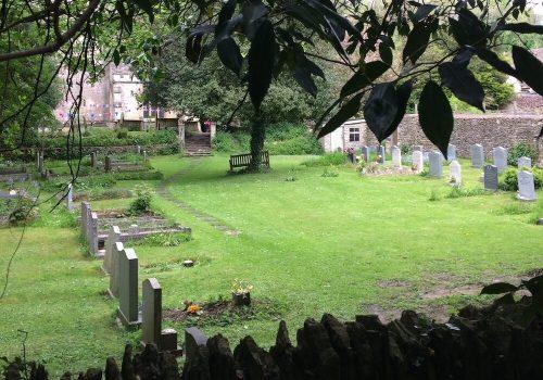 Lower Churchyard through the trees