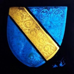 Scrope Family stained glass